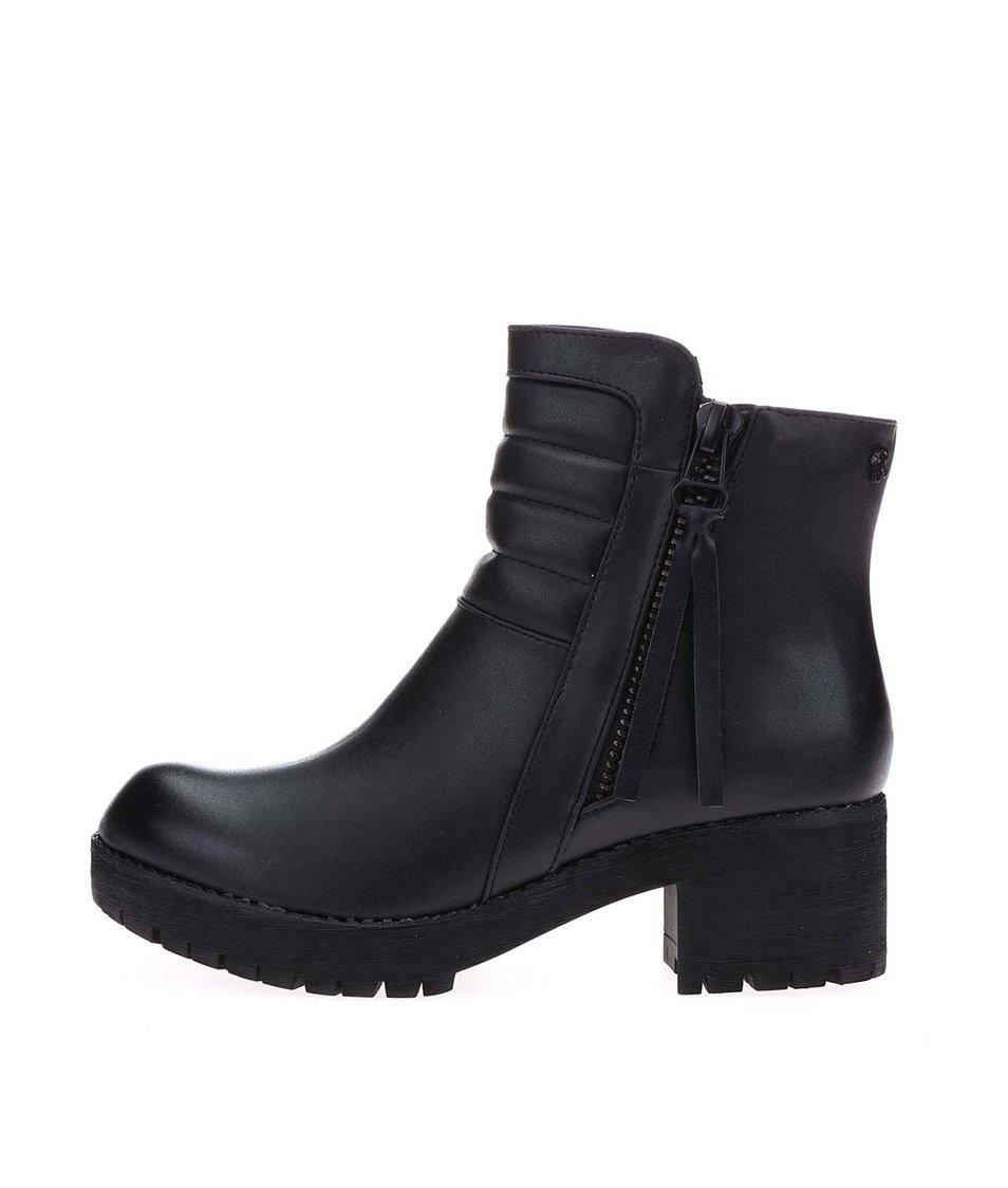 Černé kotníkové boty na platformě Refresh