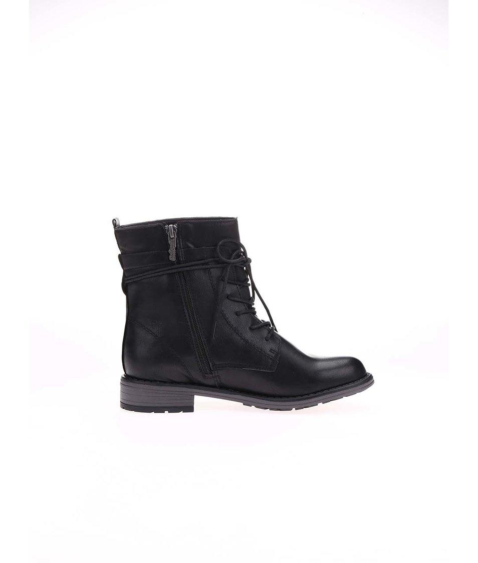 Černé vyšší šněrovací boty Refresh