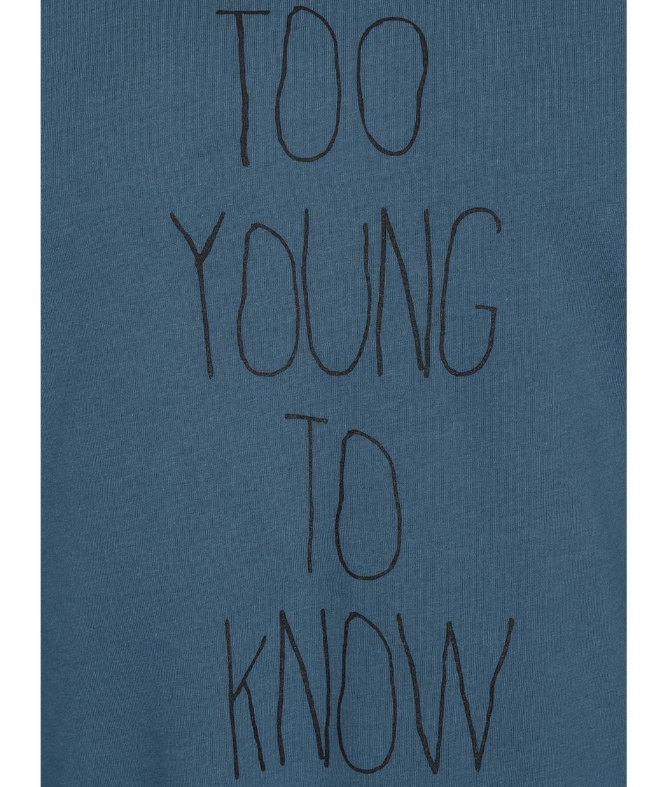 Tmavě zelené pánské triko ZOOT Originál Too Young To Know