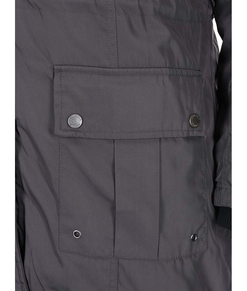Tmavě šedá dámská péřová bunda Bellfield Crawley