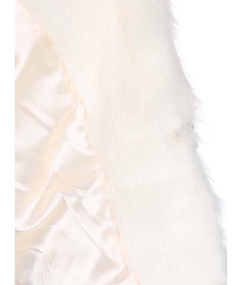 Krémová vesta s kožíškem Bellfield Bude