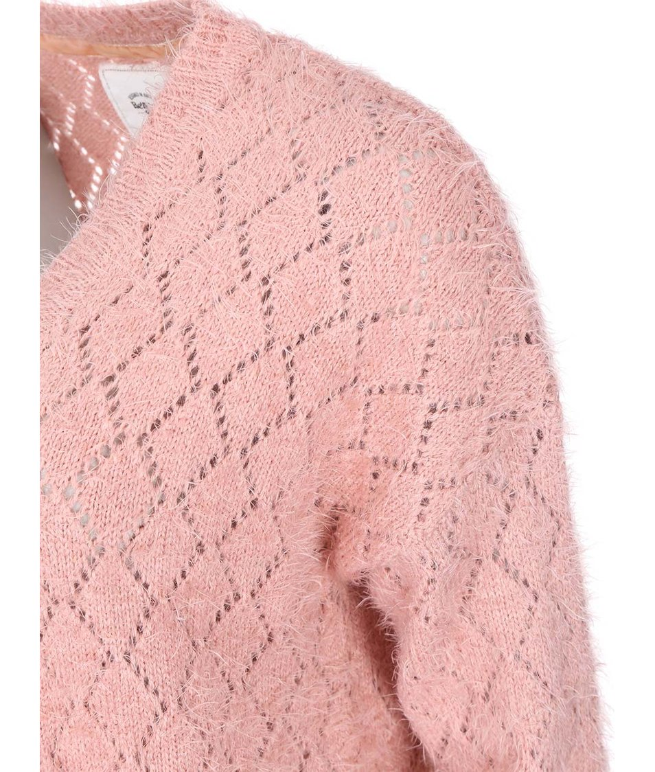 Růžový cardigan Bellfield Dawlish