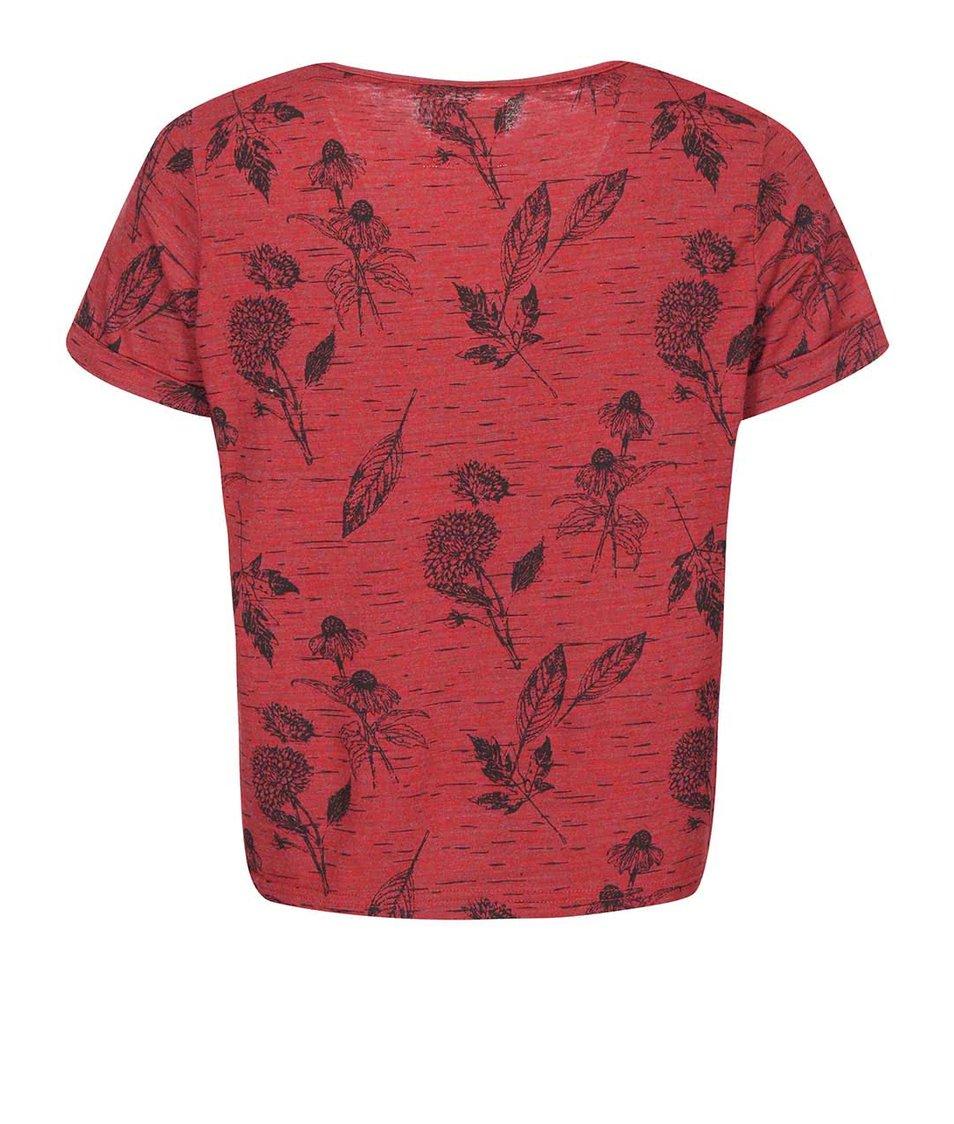 Červené dámské tričko s potiskem Bellfield Fleet