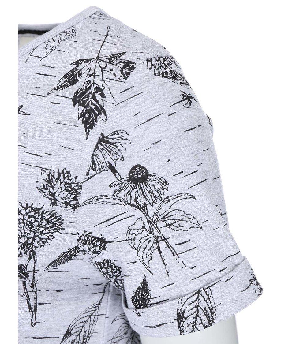 Šedé dámské tričko s potiskem Bellfield Fleet