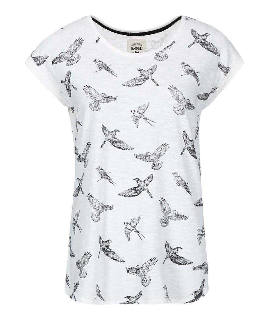 Krémové dámské tričko s ptáčky Bellfield Gateshead
