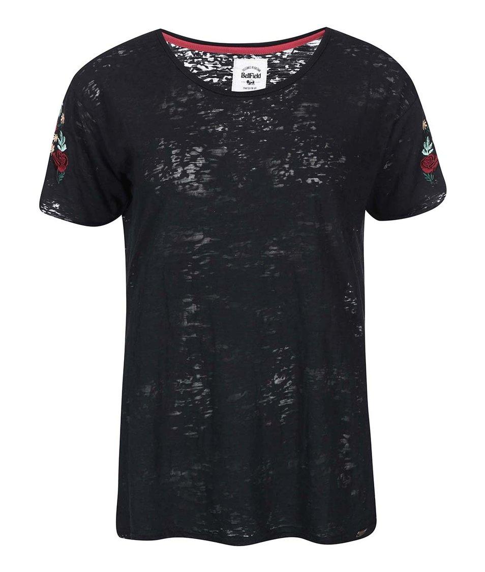 Černé dámské tričko s květinami Bellfield Brierley
