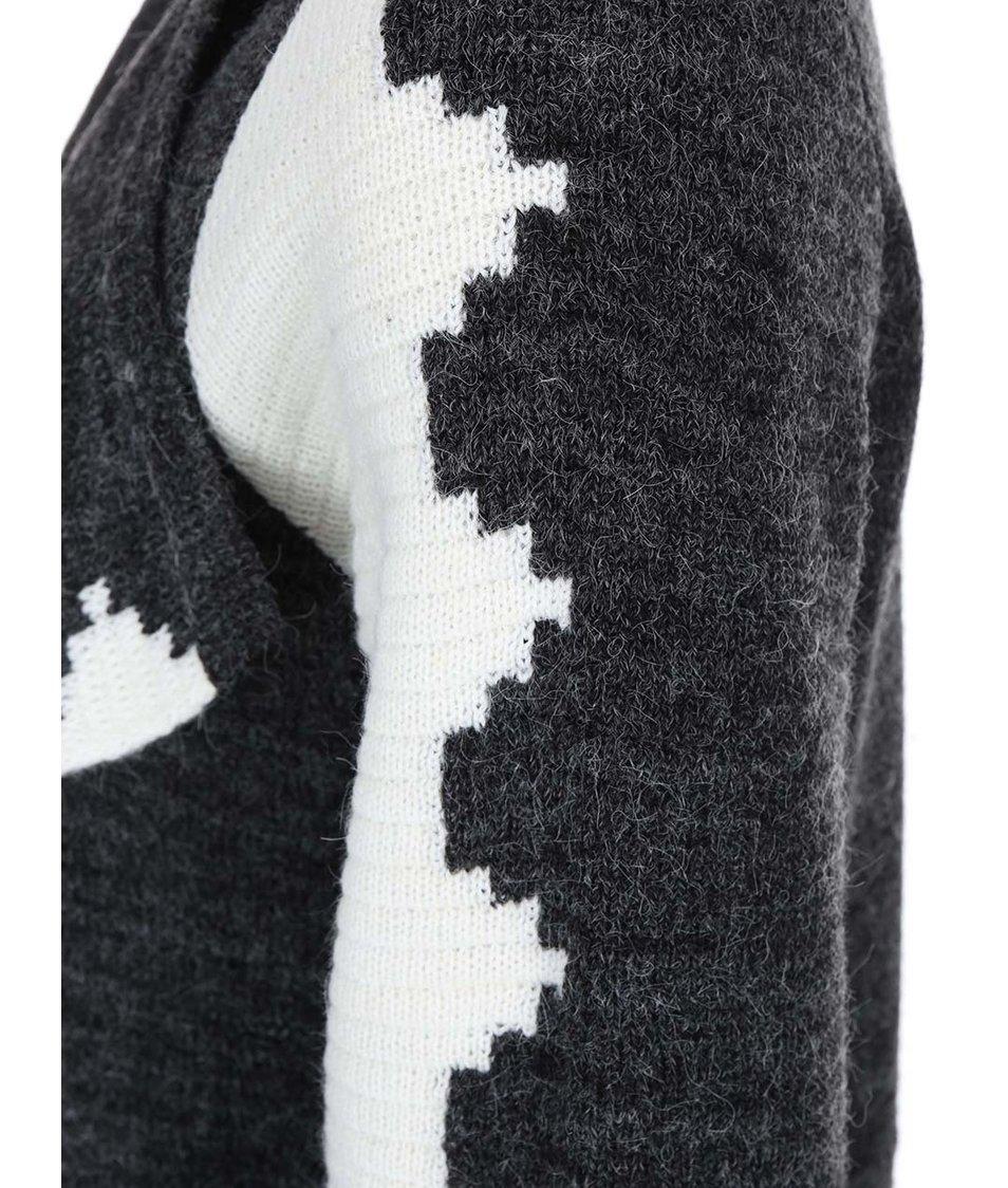 Bílo-šedý vzorovaný cardigan VILA Xly