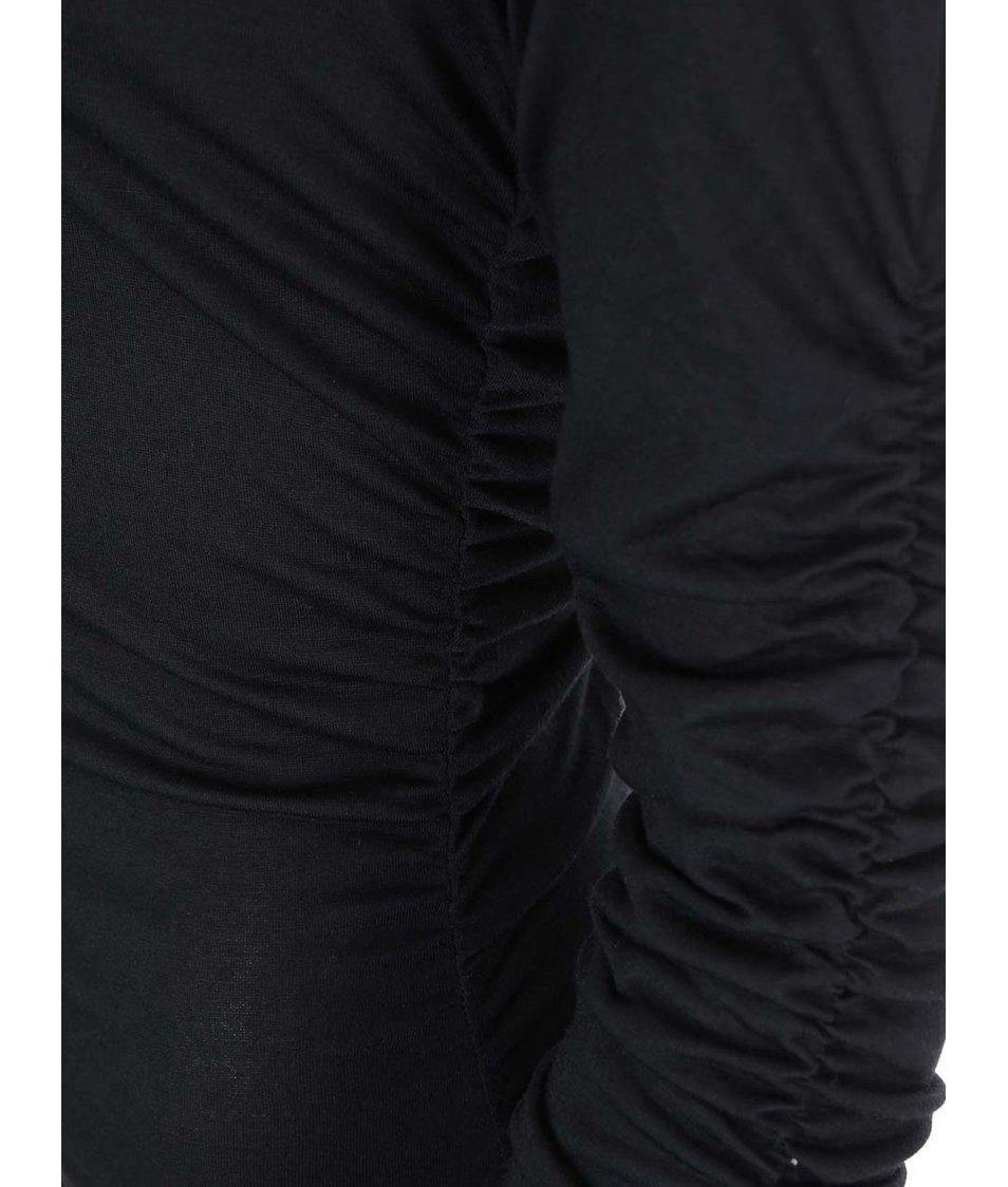 Černé přiléhavé šaty s řasením AX Paris