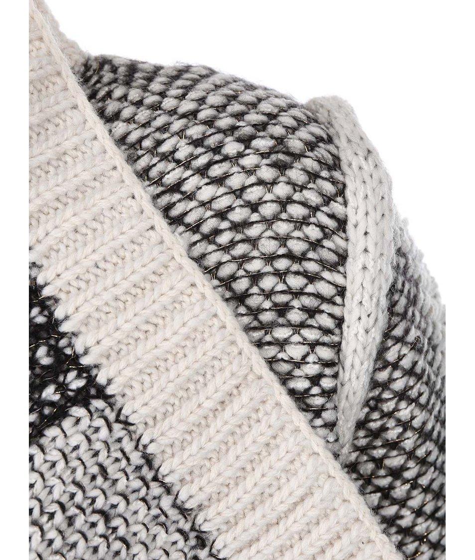 Černo-krémový vzorovaný cardigan VILA Calmer