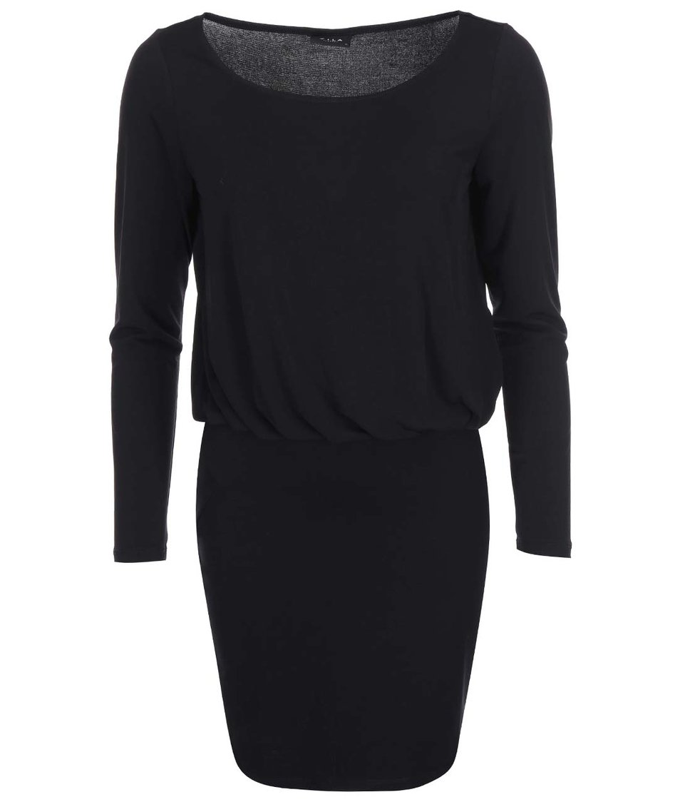 Černé šaty s dlouhým rukávem VILA Olli