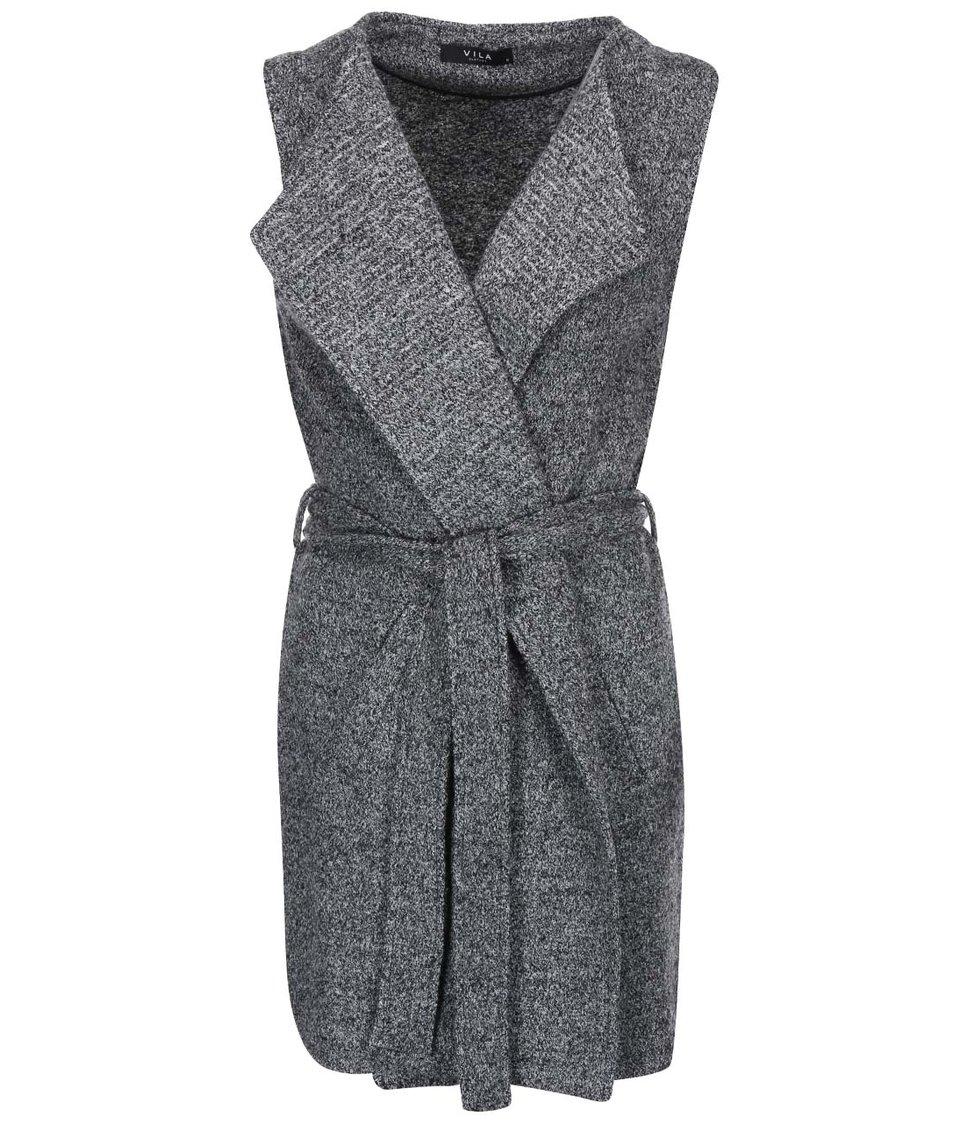 Šedá kabátová vesta VILA Llou