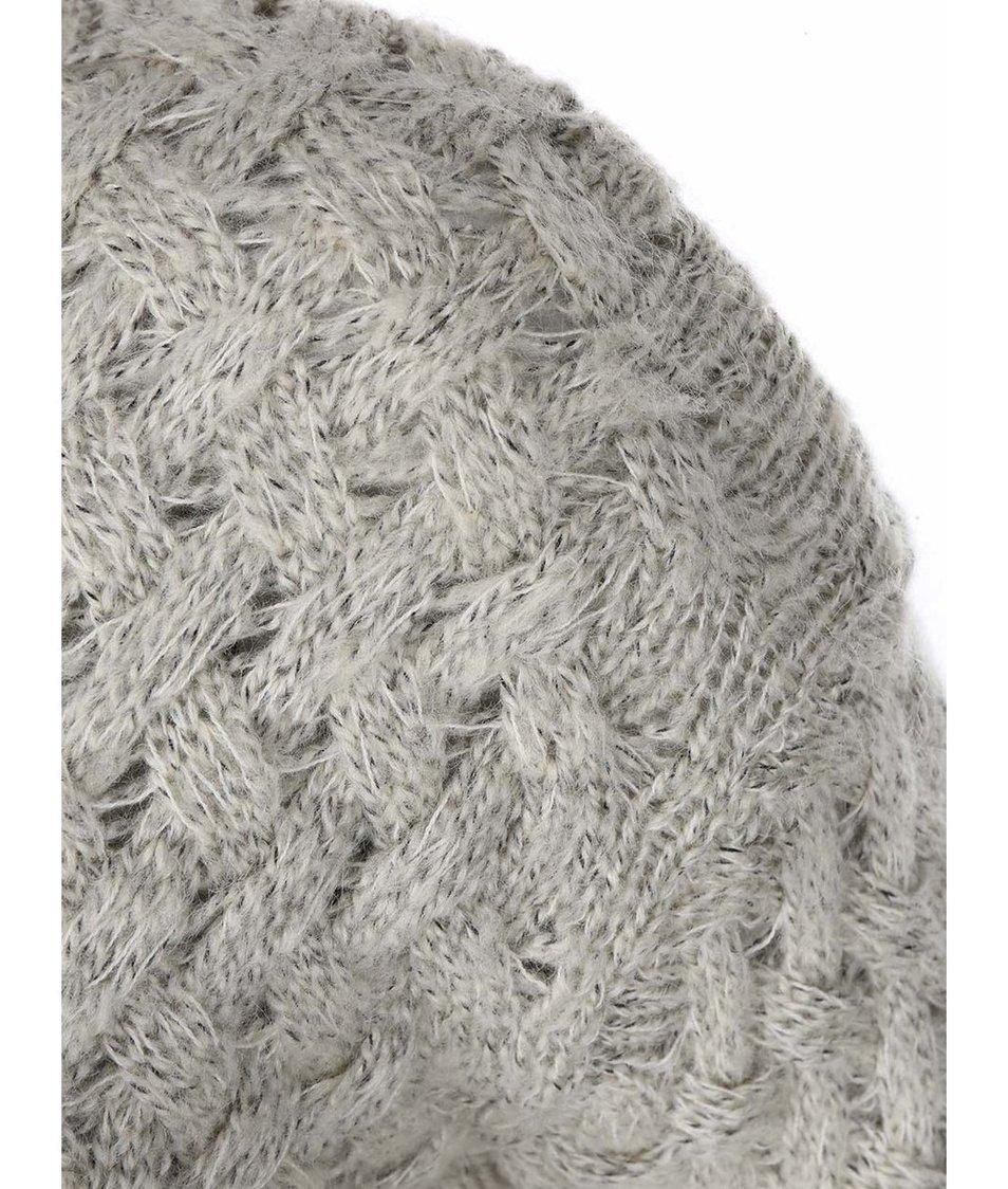Šedý dlouhý svetr s kapsami Lavand