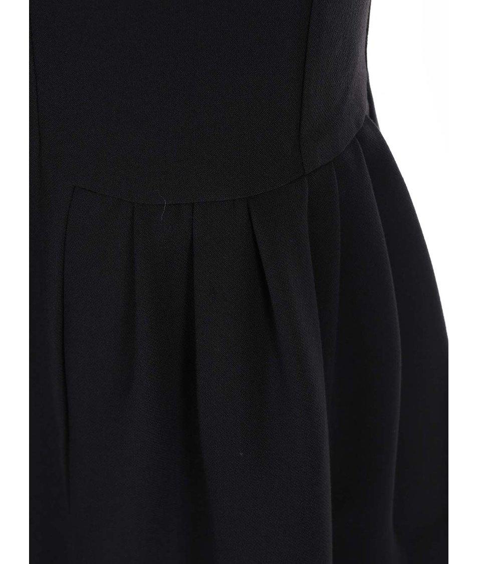 Černé šaty s krajkovými zády VILA Houn