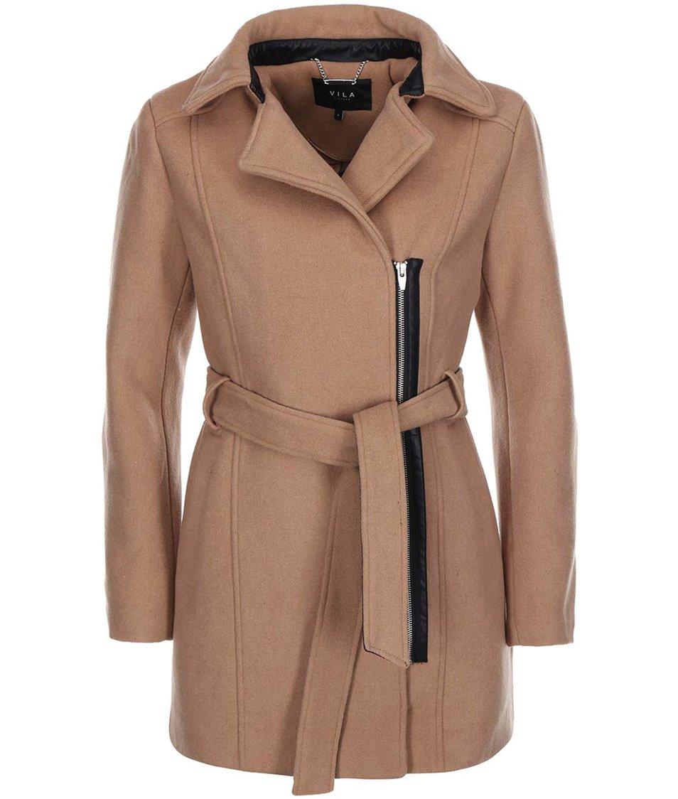 Světle hnědý kabát VILA Darling