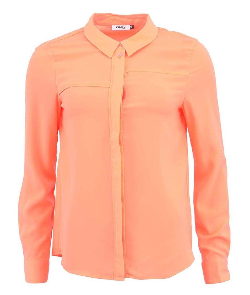 Neonově růžová volnější košile ONLY Jen