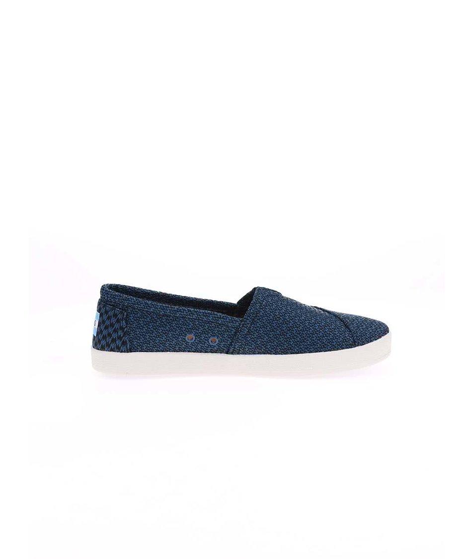 Černo-modré dámské proplétané loafers Toms Avalon