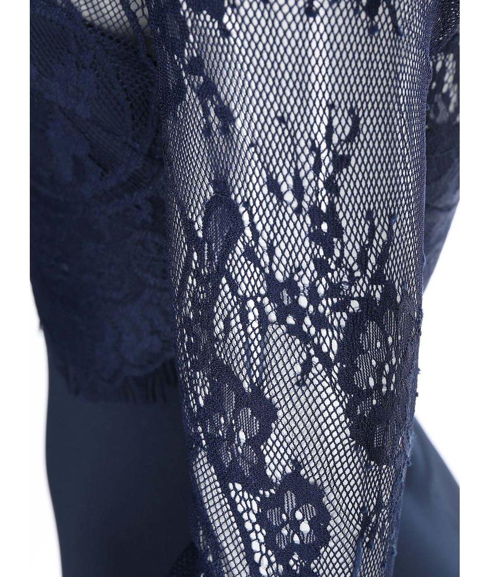 Tmavě modré přiléhavé šaty s krajkou AX Paris