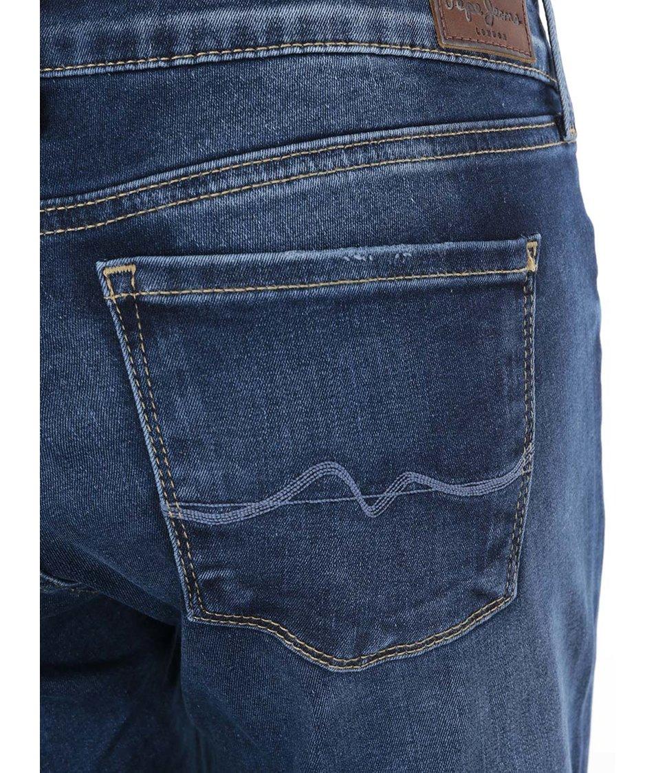 Modré dámské džíny s nízkým pasem Pepe Jeans Soho