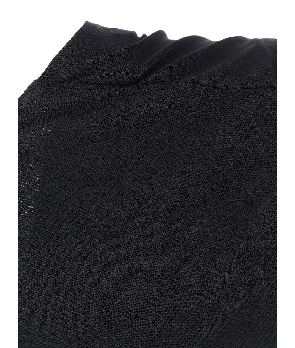 Černé dlouhé šaty s vykrojenou sukní AX Paris