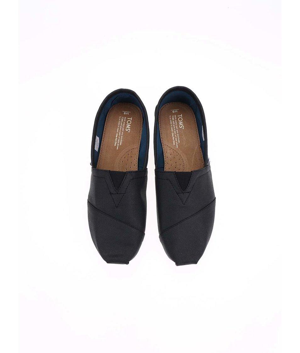 Černé pánské loafers Toms Classic