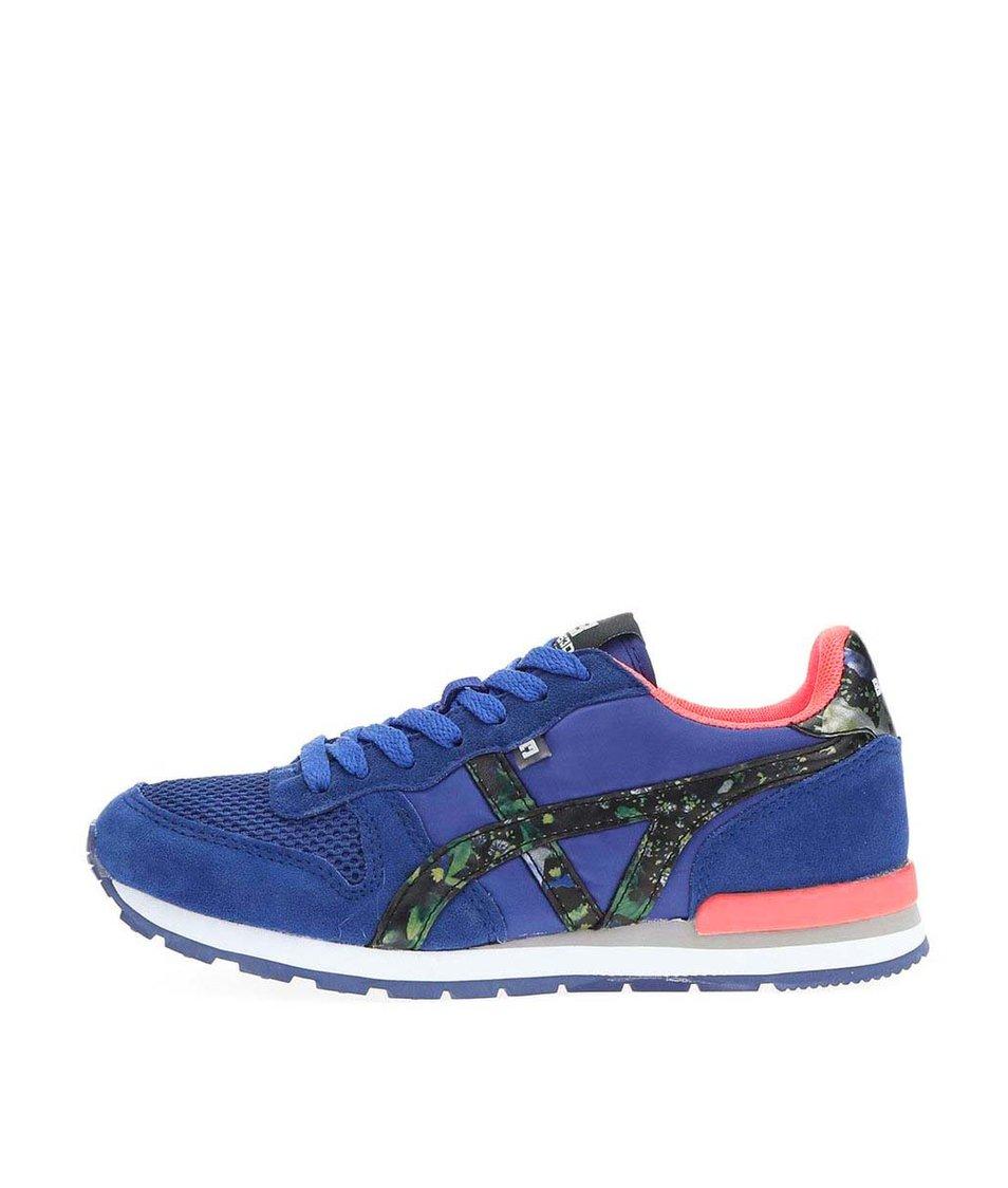 Modré dámské tenisky s barevnými detaily Bassed