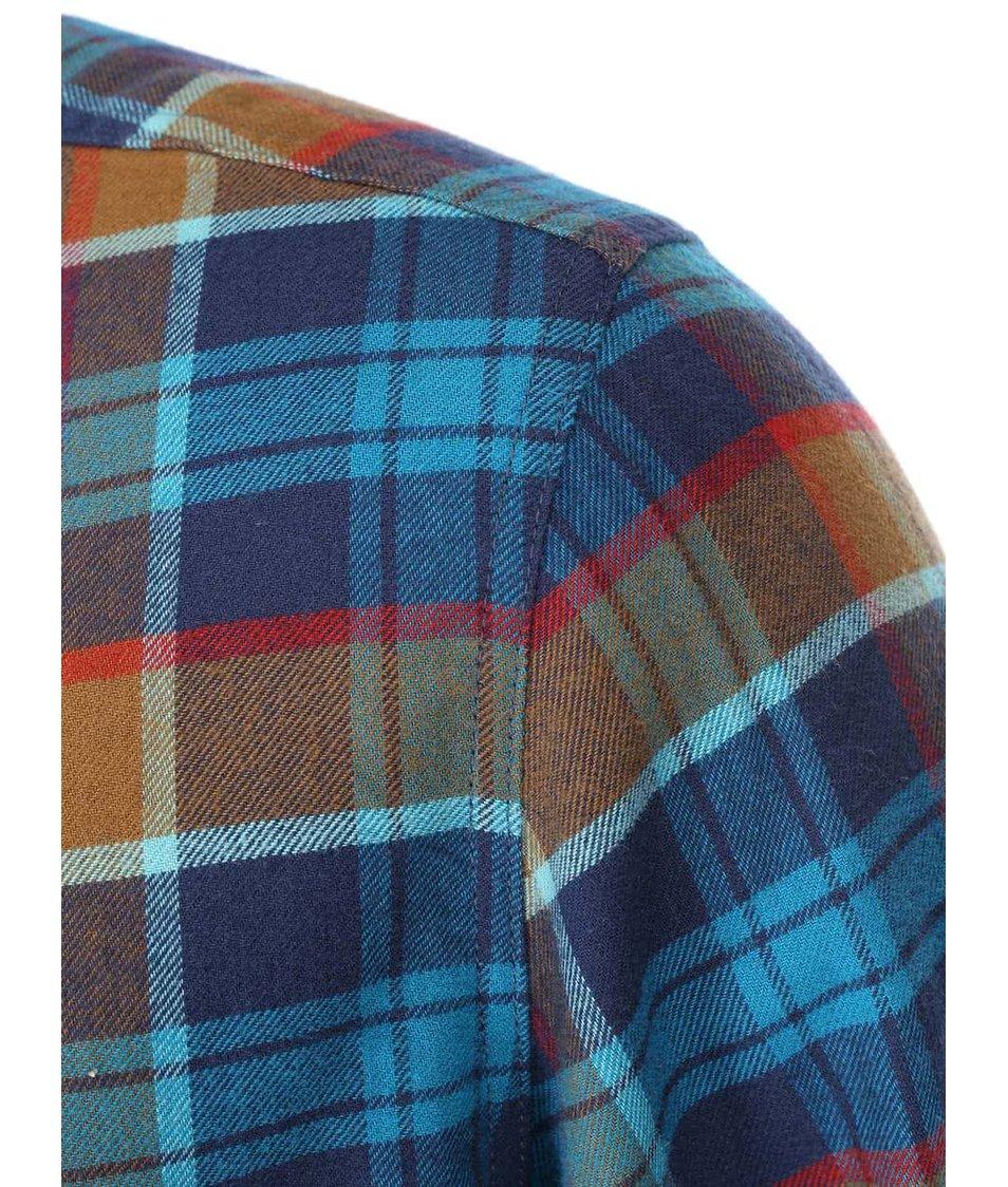 Červeno-hnědo-modrá pánská kostkovaná košile Rip Curl