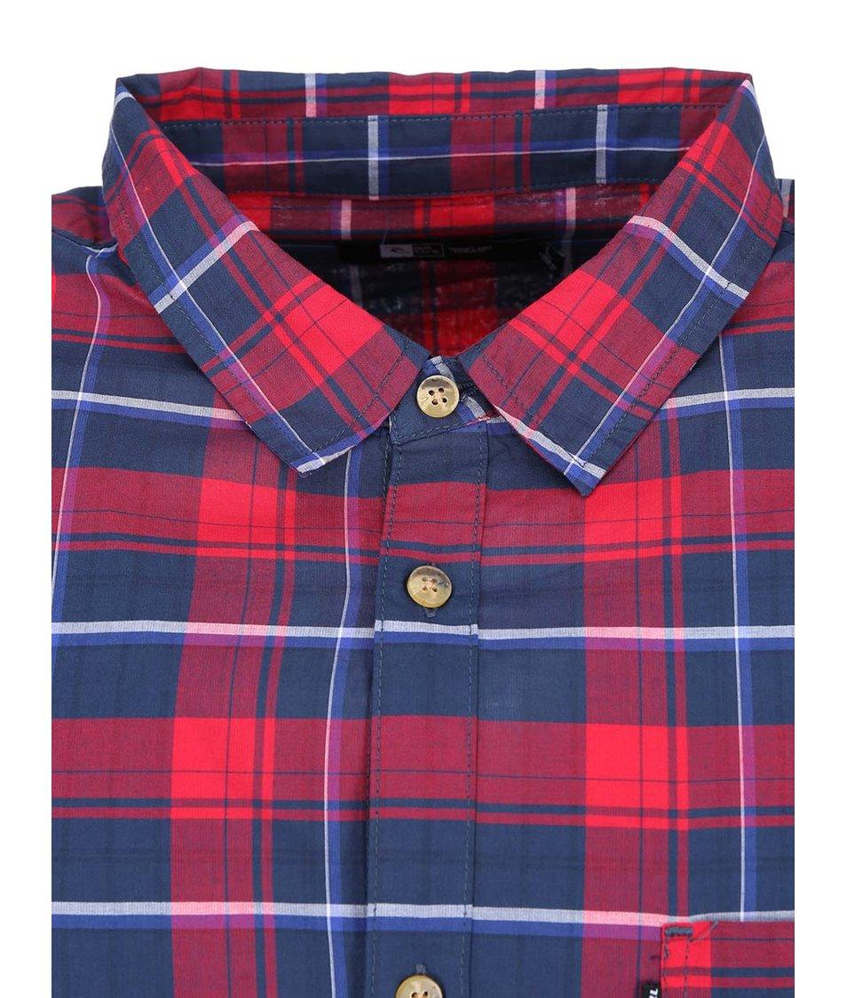 Modro-červená pánská kostkovaná košile Rip Curl