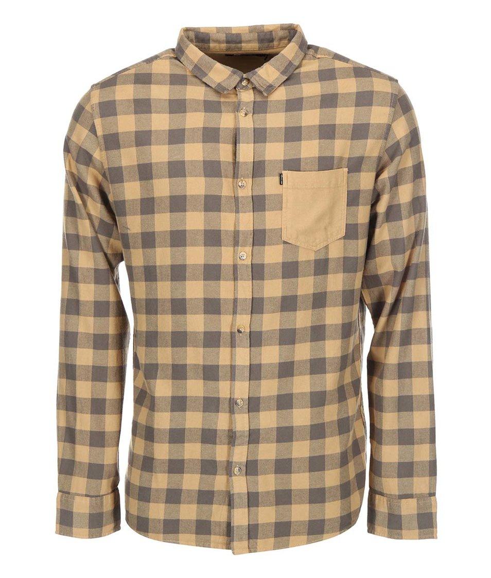 Béžová pánská kostkovaná košile Rip Curl