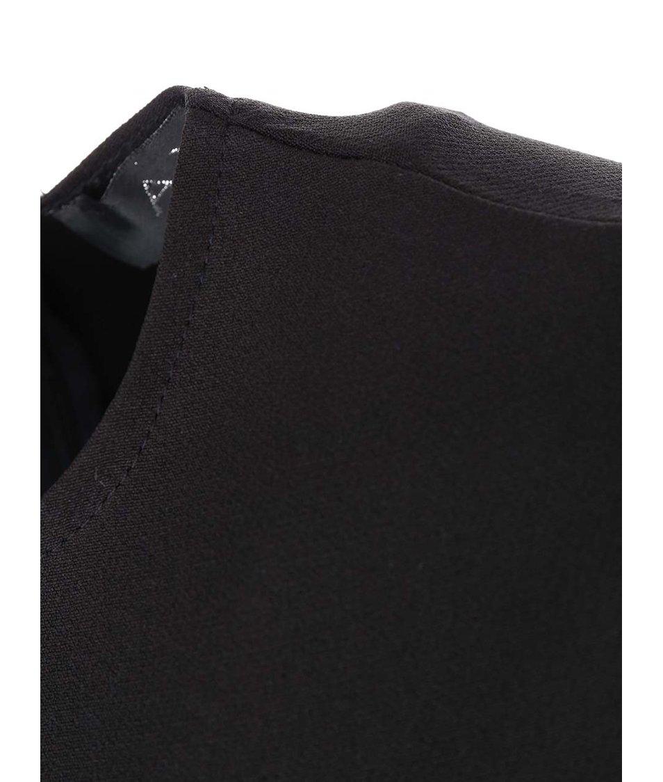 Černé šaty se vzorovanou sukní AX Paris