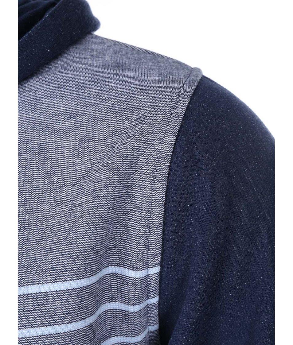 Korálovo-modrá pánská pruhovaná mikina s kapucí Rip Curl