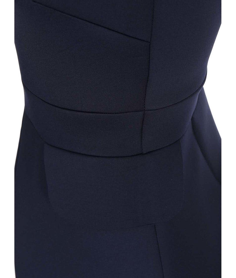 Tmavě modré šaty se zipem na zádech AX Paris
