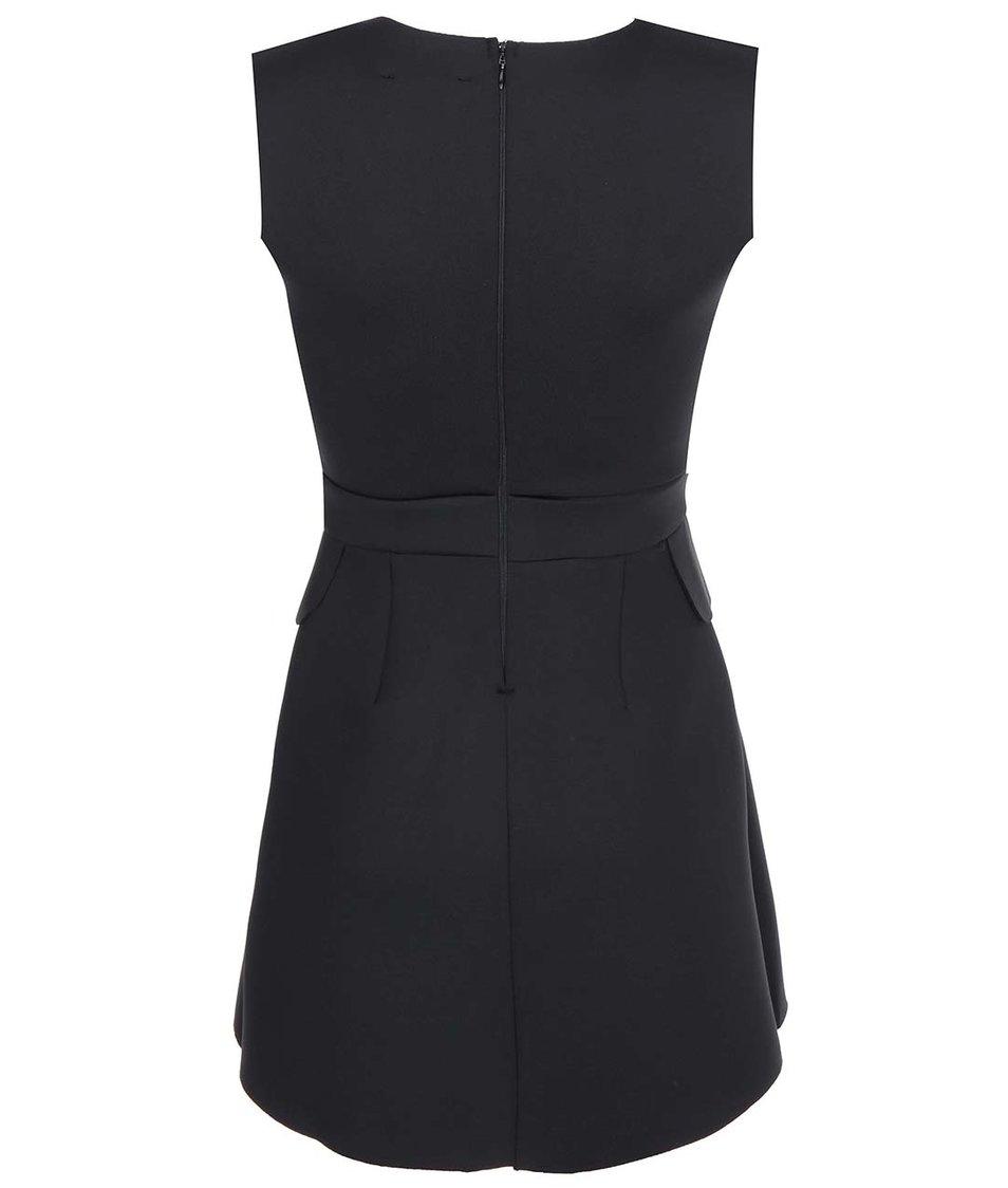 Černé šaty se zipem na zádech AX Paris