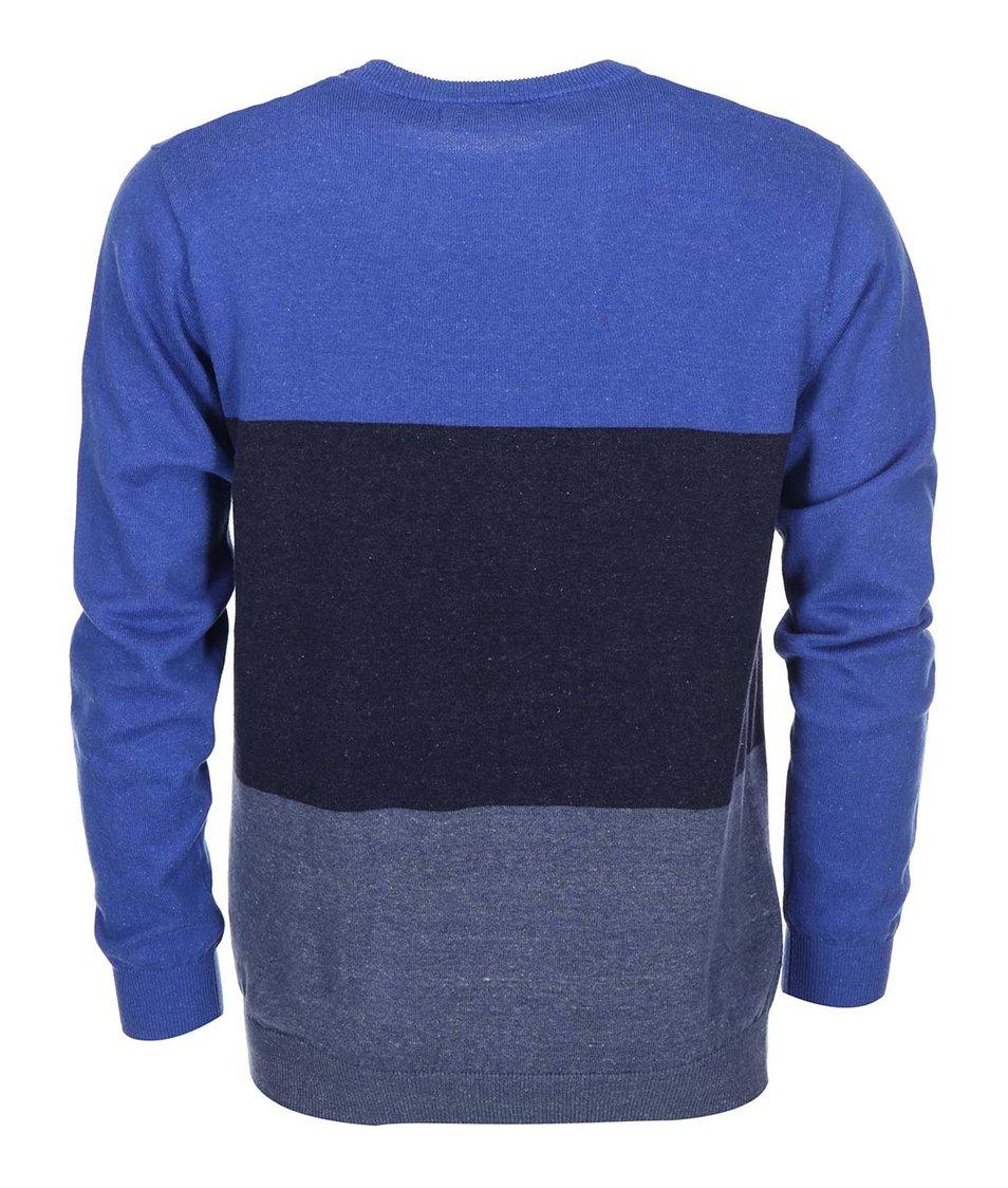 Modrý pánský svetr s pruhy Rip Curl