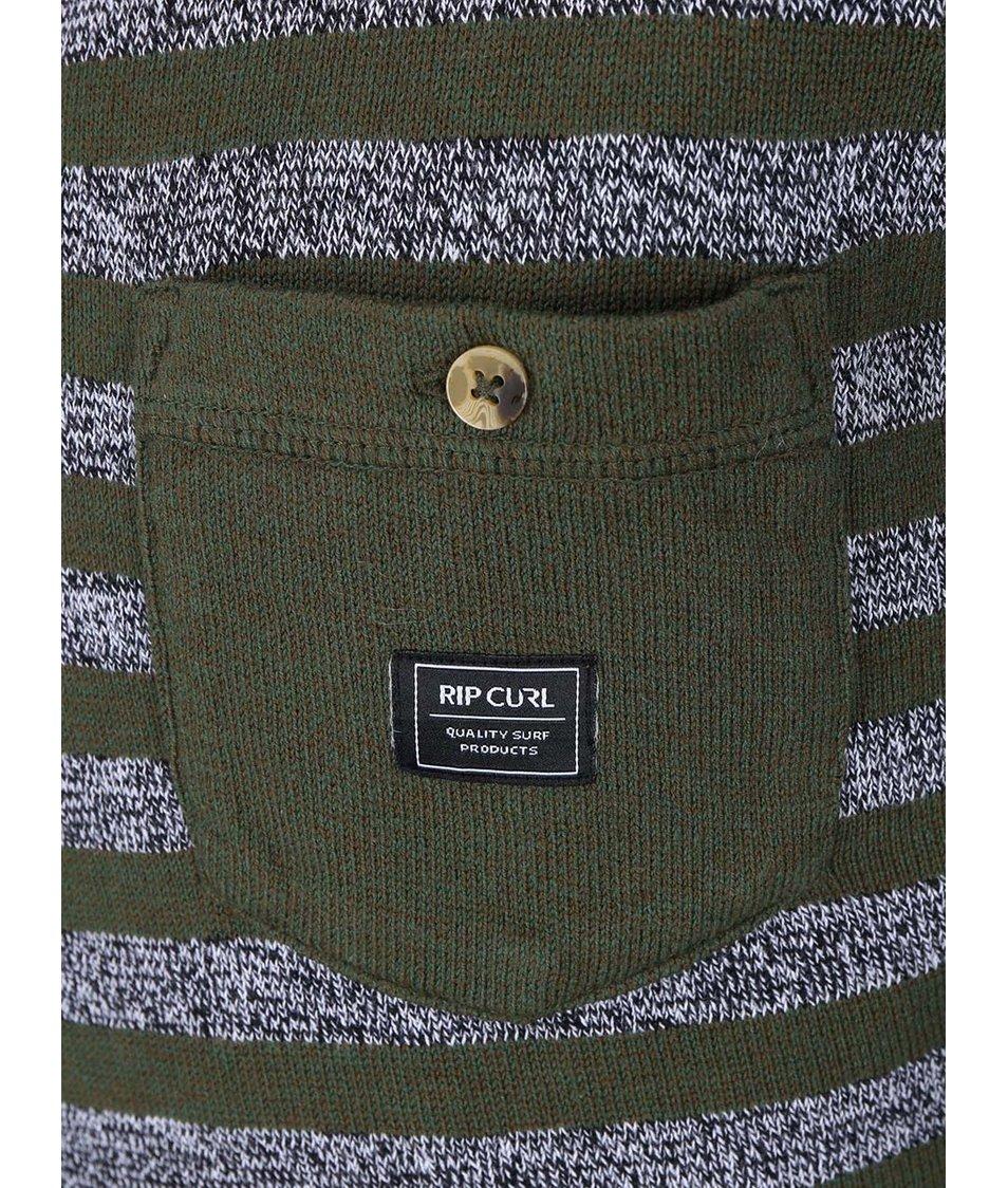 Zelený pánský svetr s šedými pruhy Rip Curl