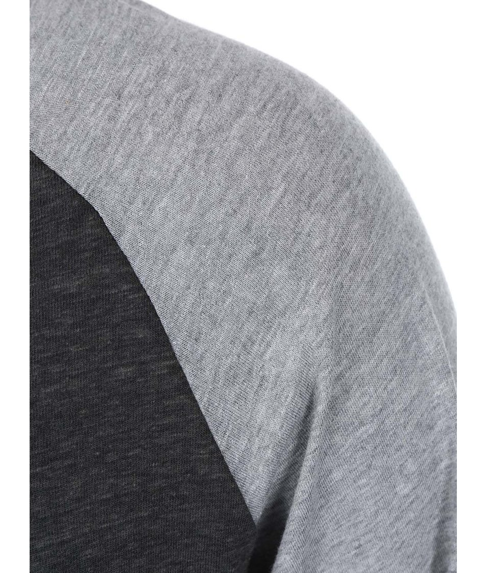 Tmavě šedé pánské triko s dlouhým rukávem a potiskem Rip Curl