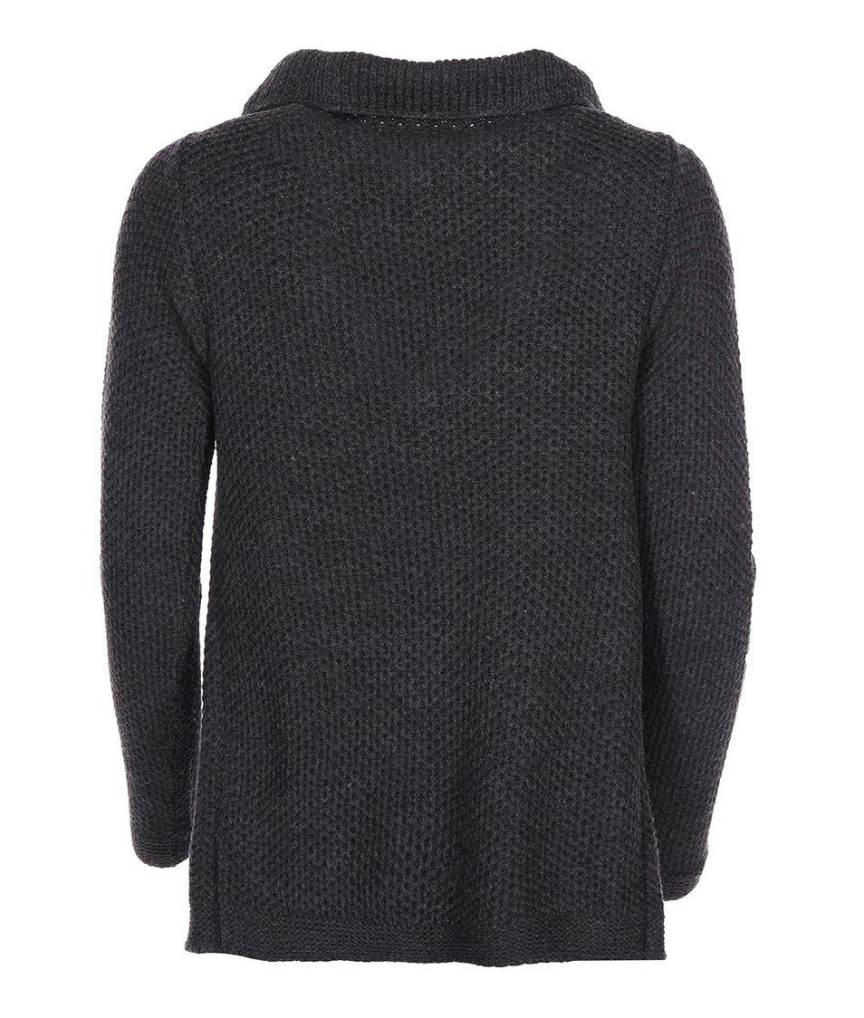 Tmavě šedý pletený cardigan Vero Moda Ripa