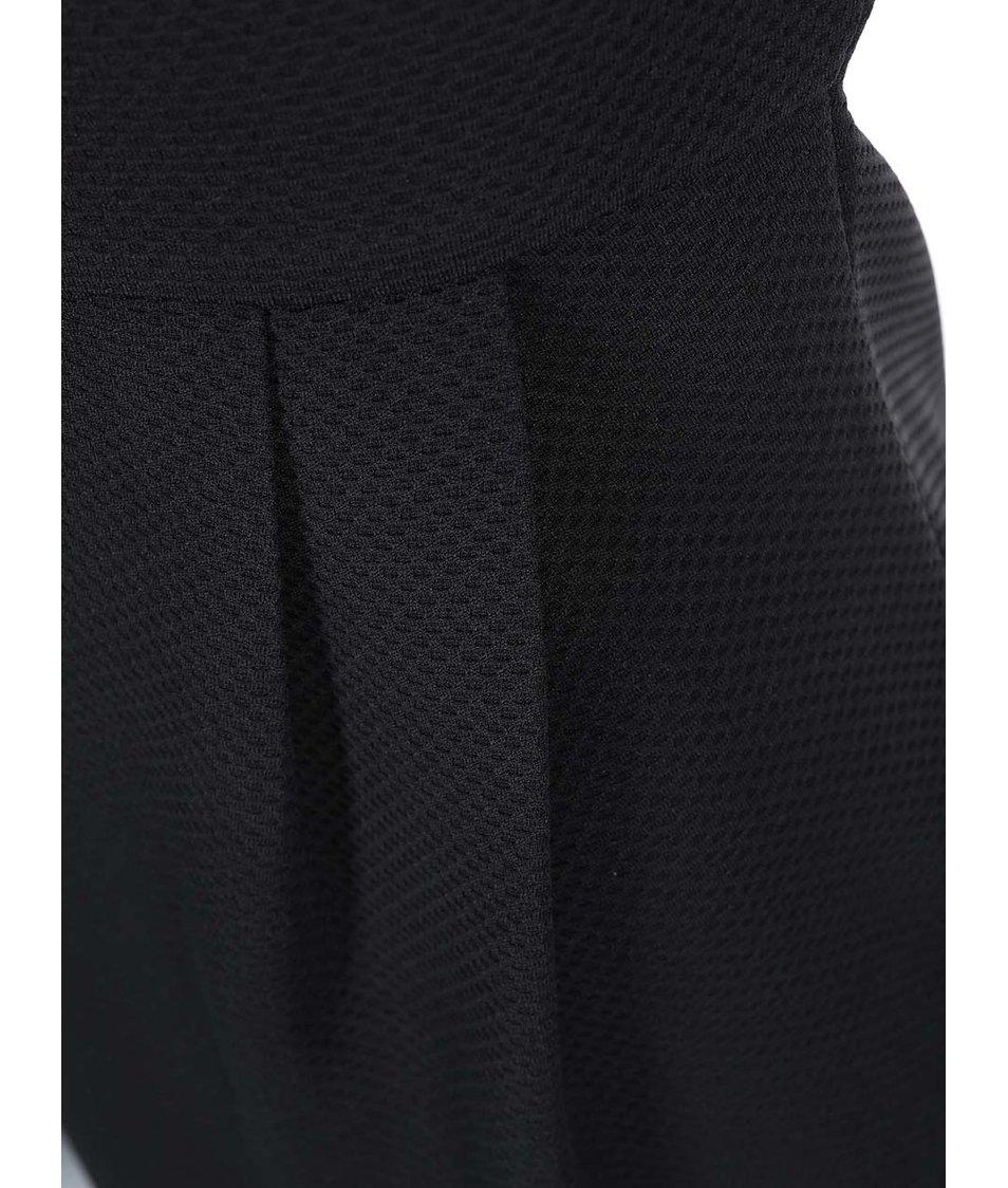 Černé pouzdrové šaty s krátkým rukávem Ax Paris