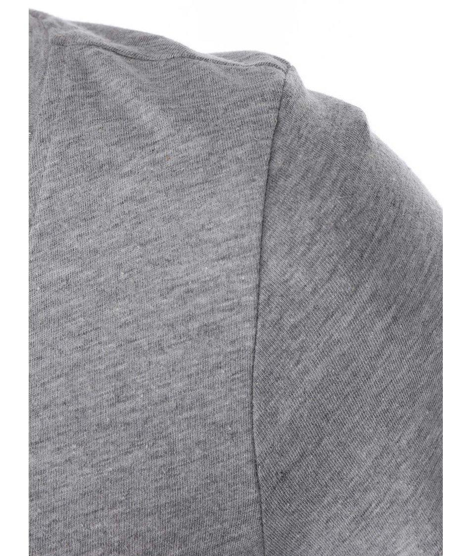 Světle šedé tričko s indiánským potiskem Vero Moda Dora