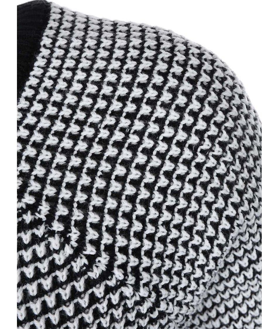 Bílo-černý vzorovaný svetr Noisy May Jam