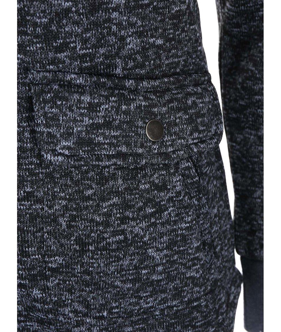 Černá dámská žíhaná mikina s kapucí Rip Curl Nanaimo