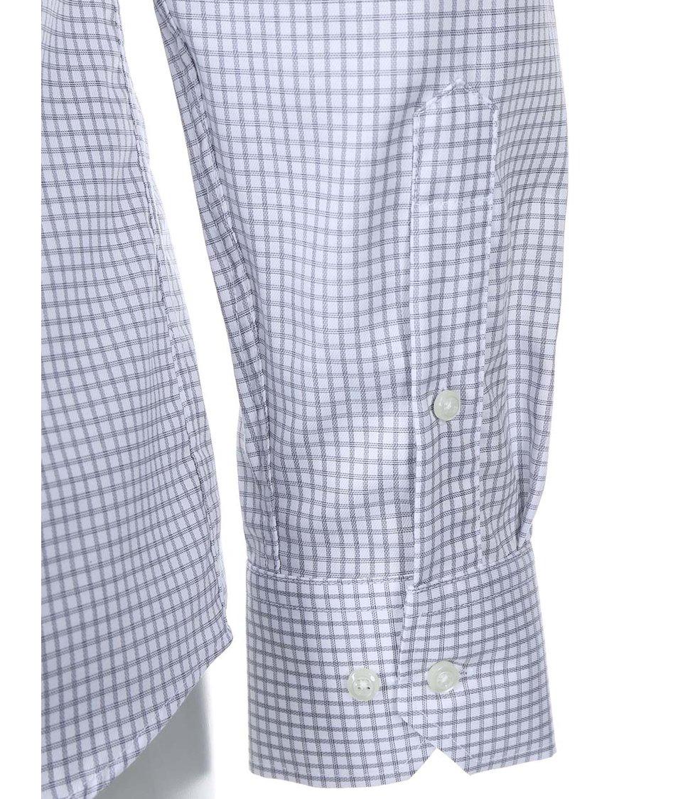 Bílo-šedá kostkovaná slim fit košile Seven Seas Castaway