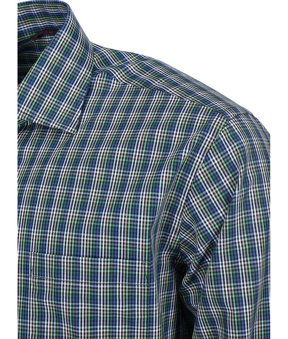 Zelená károvaná košile Seven Seas Cage
