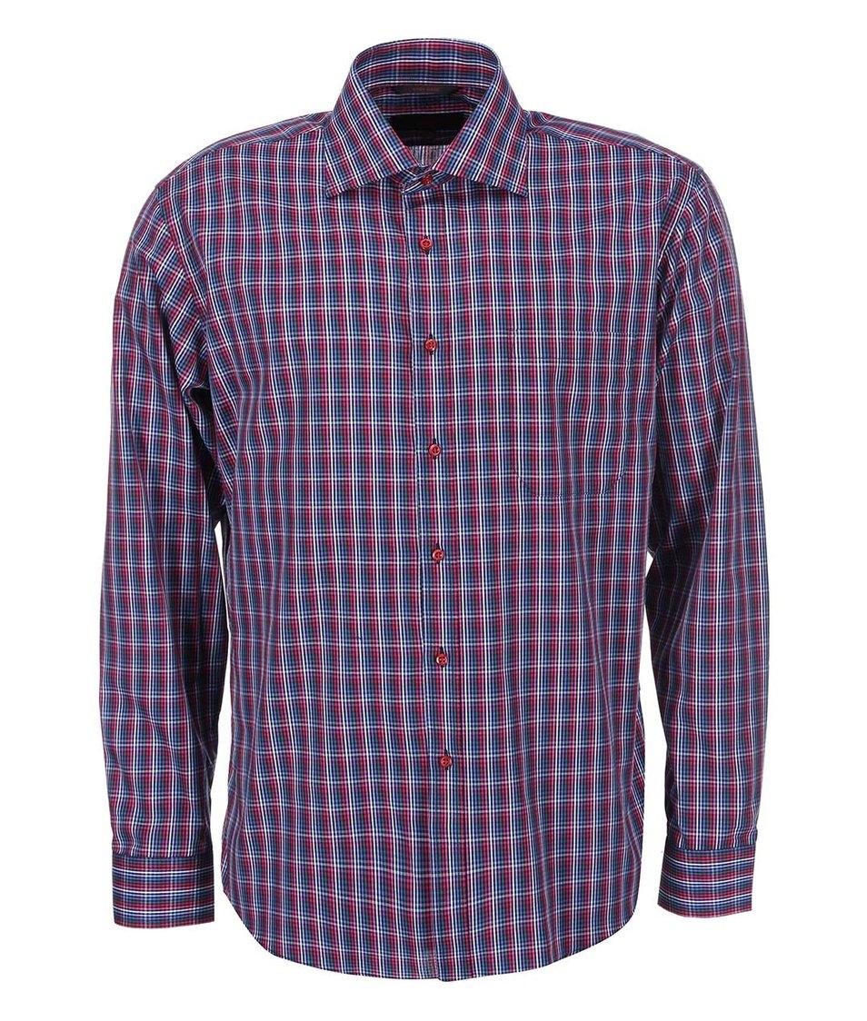 Vínová károvaná košile Seven Seas Cage