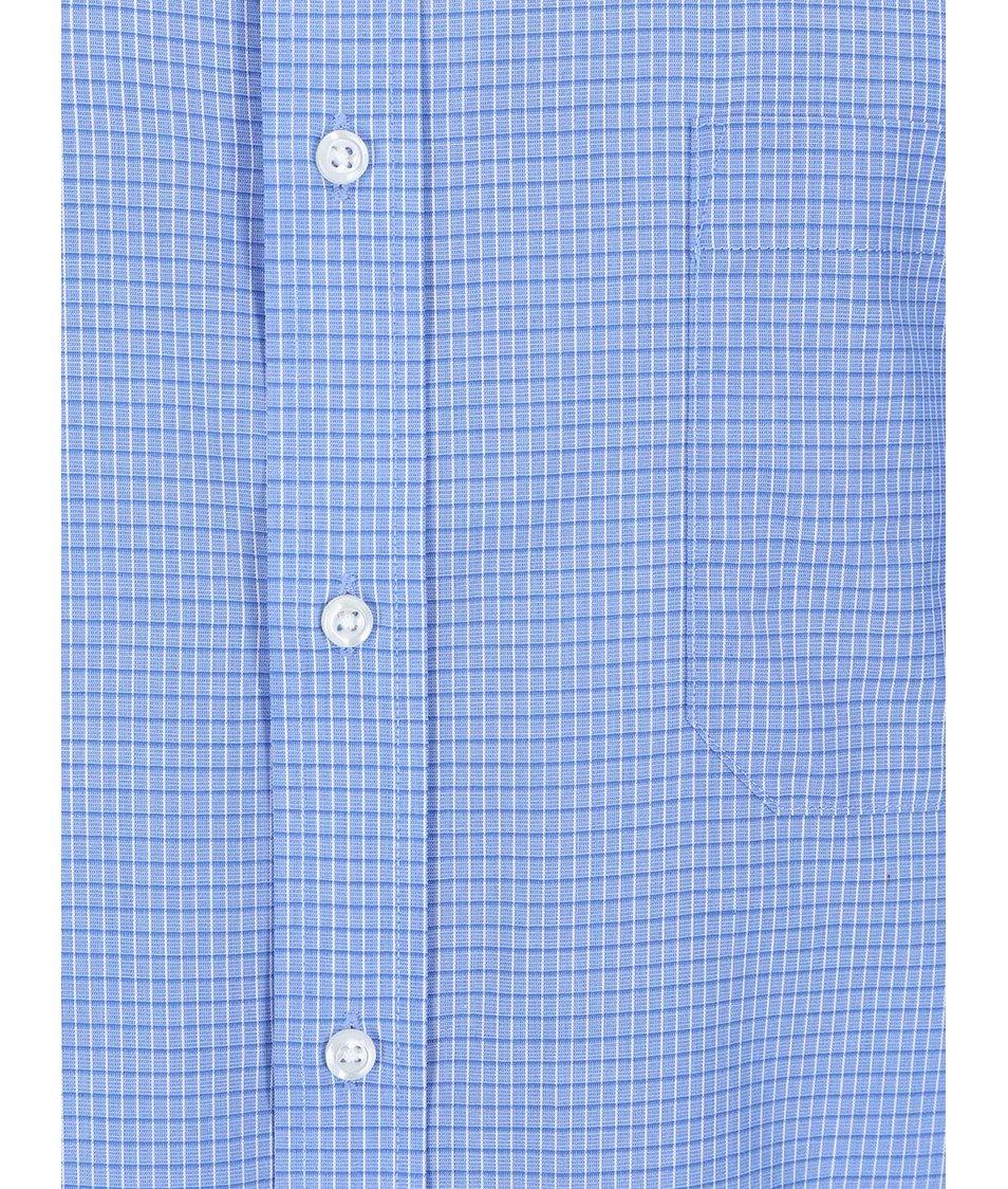 Modrá kostkovaná košile Seven Seas Paul