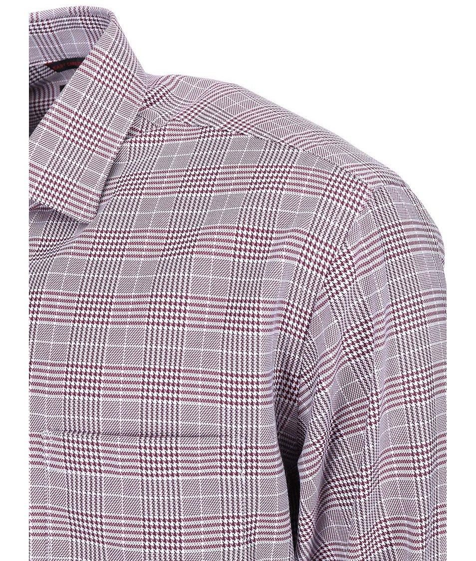 Vínová košile se vzorem glenček Seven Seas Avenger