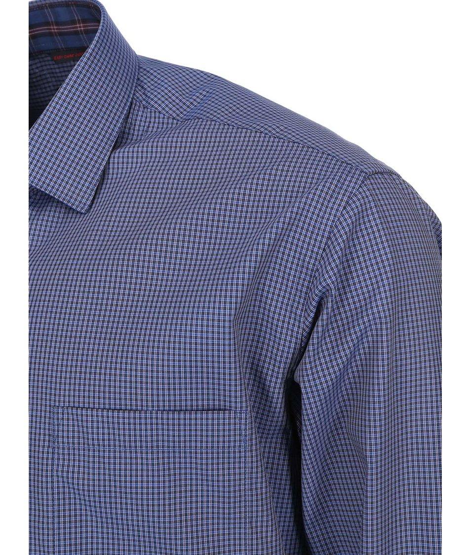 Tmavě modrá kostkovaná košile Seven Seas Angelo