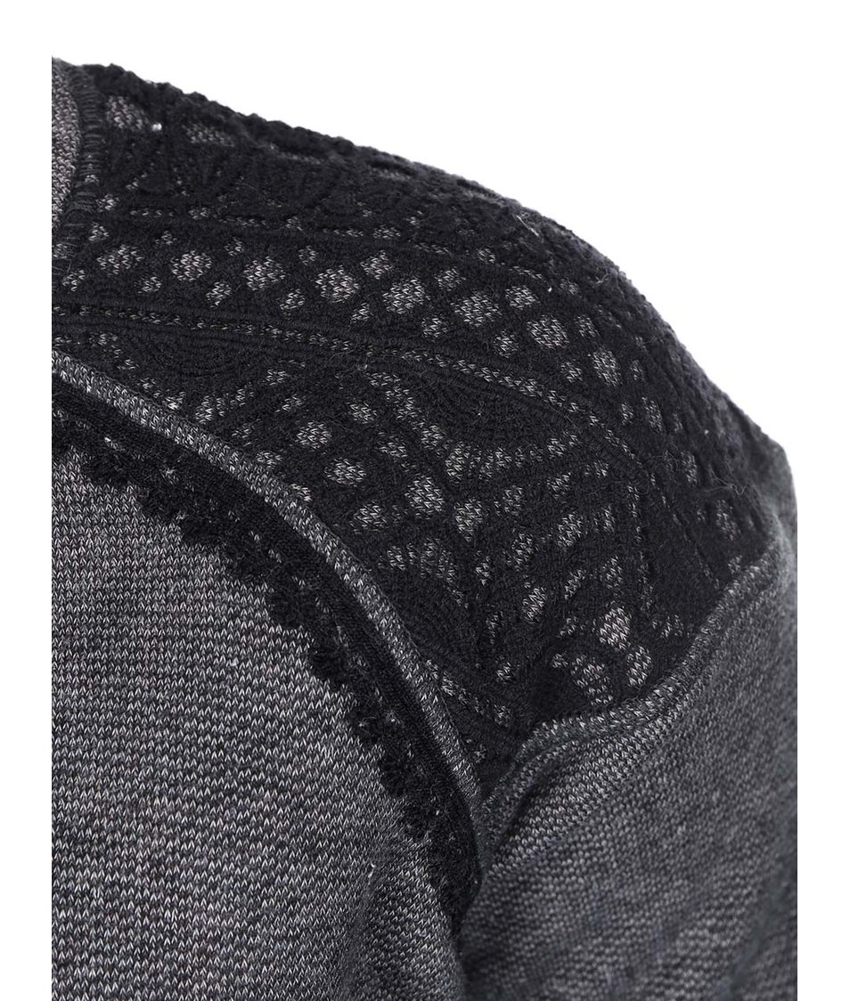 Černo-šedá dámská mikina s krajkou Rip Curl Selwyn