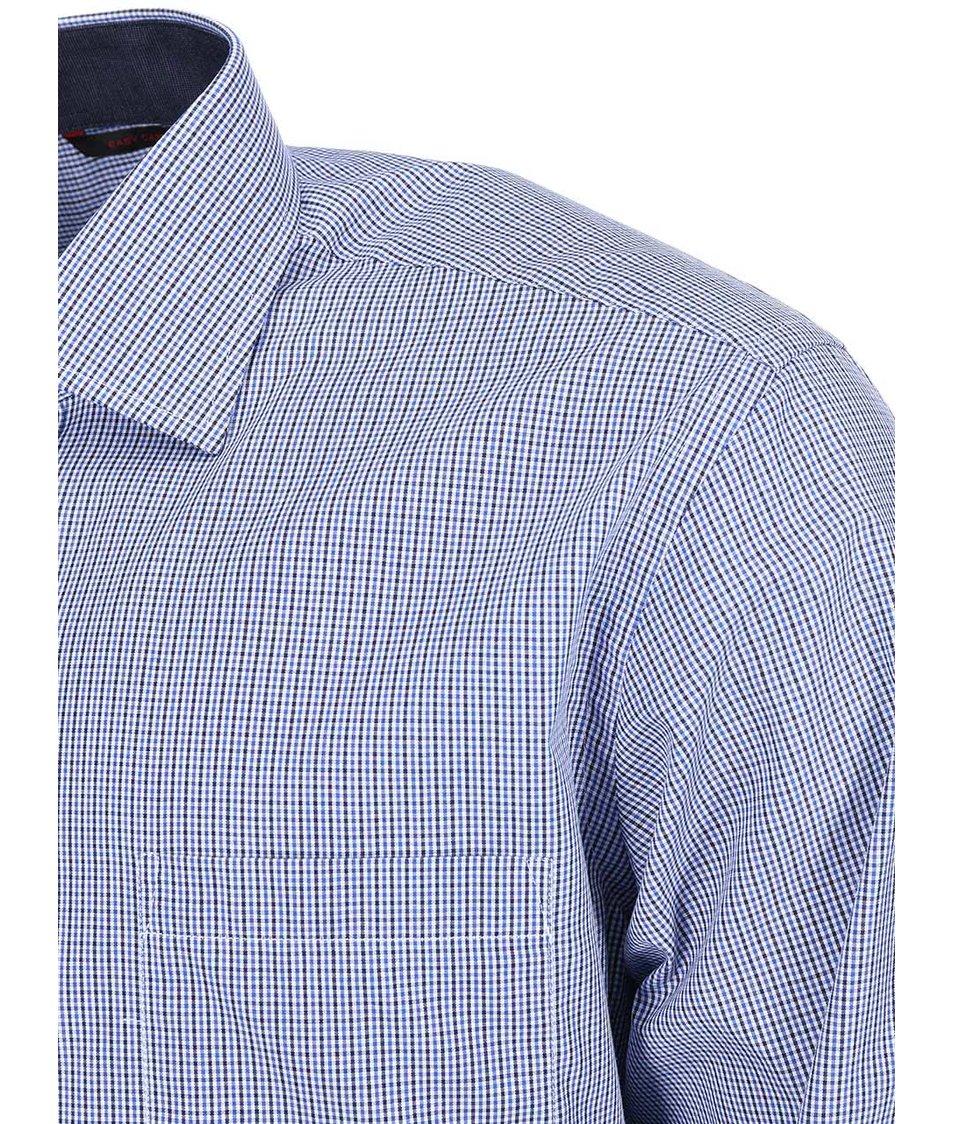Černo-modrá kostkovaná košile Seven Seas Daniel
