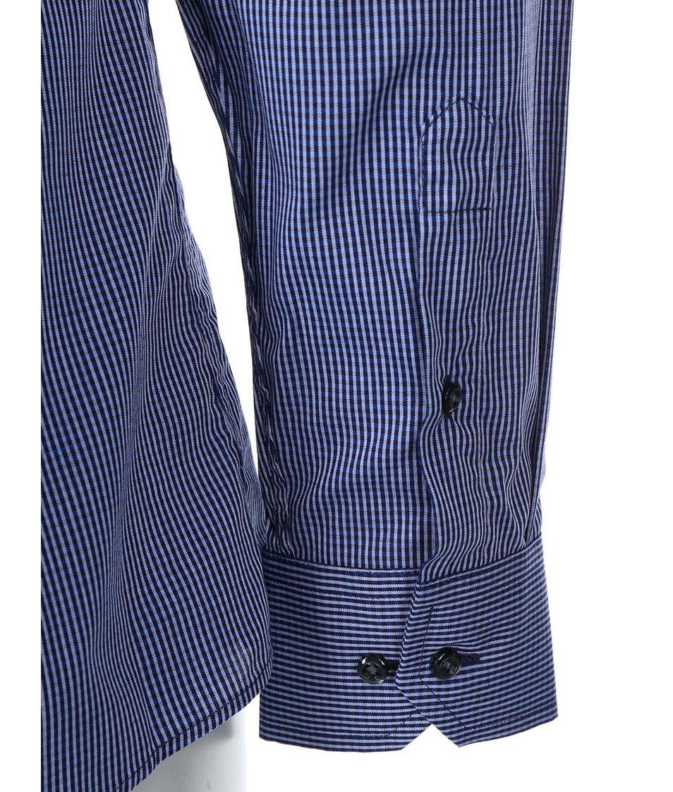 Tmavě modrá kostkovaná košile Seven Seas Gibson