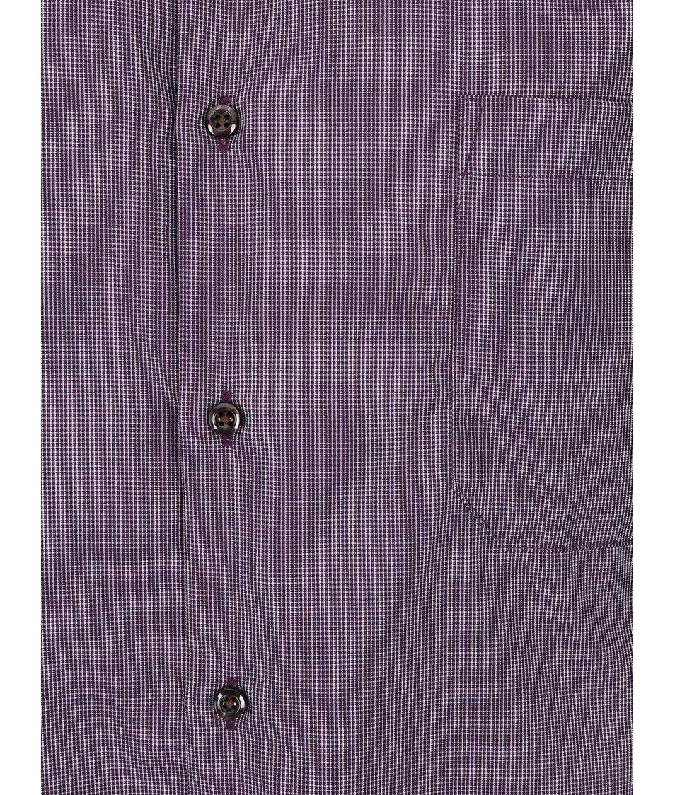 Vínová kostkovaná košile Seven Seas Craig
